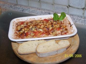 Rezept: Gratinierte rote Zwiebeln mit Gorgonzola