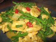 Hähnchen- Kokos-Curry mit Prinzessböhnchen - Rezept