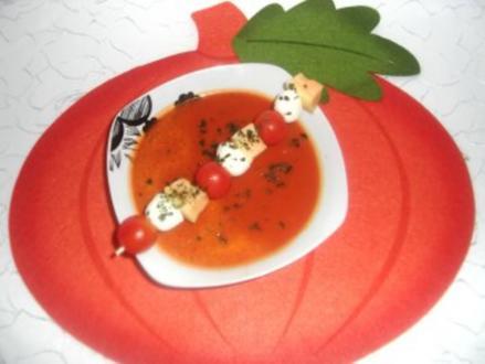 Scharfe Tomatensuppe mit Netzmelone - Rezept