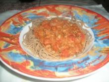 DIABETIKER Vollkornspaghetti mit Thunfischsugo - Rezept