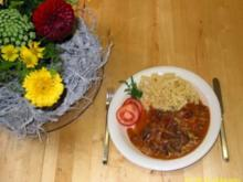 Gulasch mit frischen Pilzen - Rezept