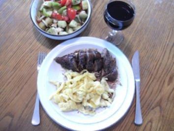 Fleisch: Rehschulter gebraten - Rezept