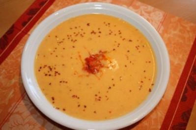 Scharfe Zucchini-Creme-Suppe - Rezept