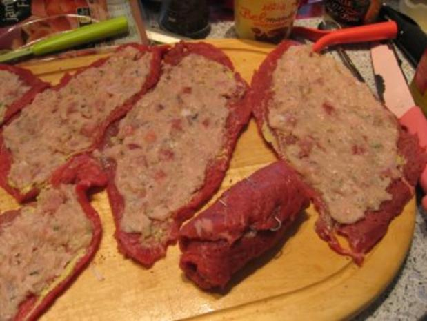 Fleisch- Gefüllte Rolle - Rezept - Bild Nr. 4
