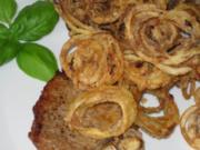 Koteletts mit Zwiebelhaube -Pupsessen - Rezept