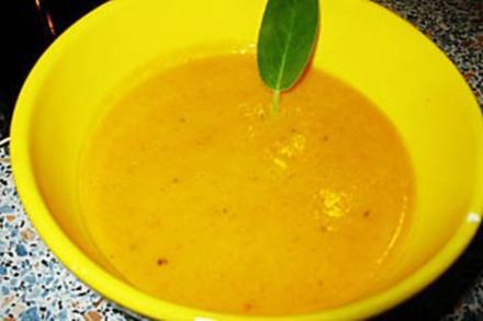 Kürbissuppe mit Ingwer und Kokosmilch - Rezept