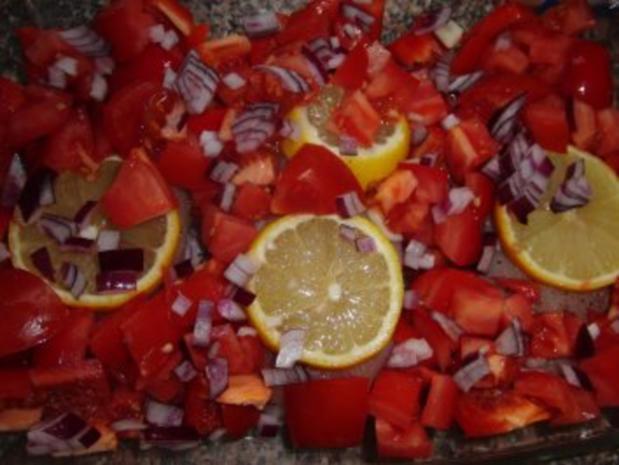 Huhn : Saftige Hähnchenbrust im Bratschlauch, mit Paprika, Tomate und grünen Bohnen - Rezept - Bild Nr. 3