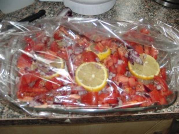 Huhn : Saftige Hähnchenbrust im Bratschlauch, mit Paprika, Tomate und grünen Bohnen - Rezept - Bild Nr. 4