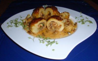 Gefüllte Kartoffeln im Backofen gegart - Rezept