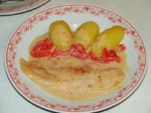 Pangasiusfilet mit Paprika-Rahmsoße - Rezept
