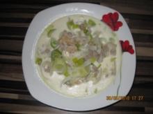Käse - Lauch Suppe - Rezept