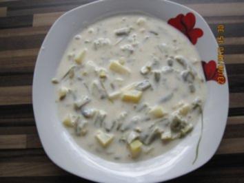 Buttermilch-Bohnensuppe - Rezept