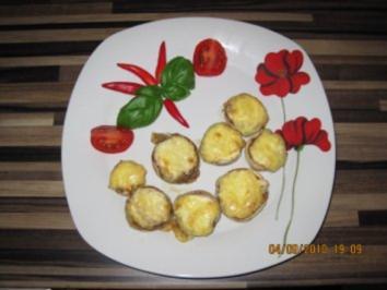 Champignons mit Frischkäsefüllung - Rezept