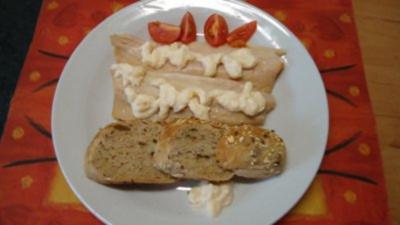 Geräuchertes Forellenfilet  mit Apfel - Sahnemeerrettich- Creme - Rezept