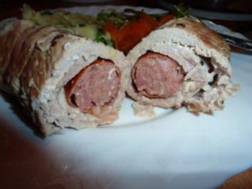 Fl/Schwein: Salciccia im Mantel - Rezept