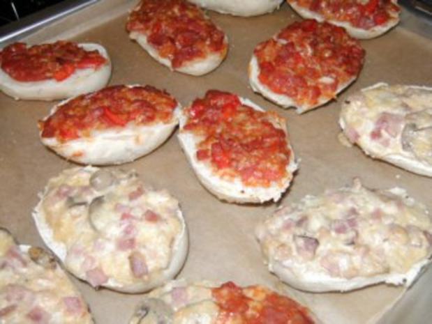 Party-Pizza-Brötchen Schinken - Rezept - Bild Nr. 2