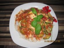 Schnelle Zuchini-Reis Pfanne - Rezept