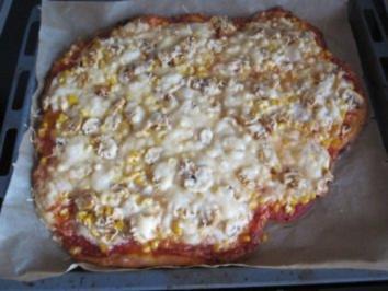 "Pizza ""ohne Hefe"" - Rezept"