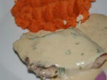Fisch: Welsfilet in Estragon - Weißwein - Senf - Soße - Rezept