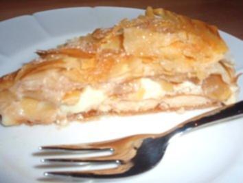 Torte: Gedeckte Apfel - Pudding - Torte - Rezept