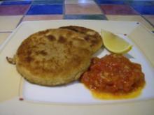 Sellerieschnitzel mit Tomaten-Orangen-Sauce - Rezept
