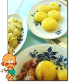 Rezept: Mittagstisch - Kartoffelklöße