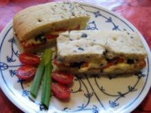 Focaccia Tomate-Mozarella - Rezept