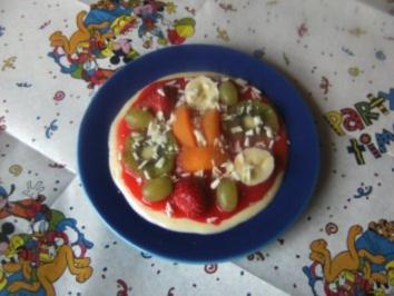 Rezept: Rezepte für Kinder 3 : Süße Pizza