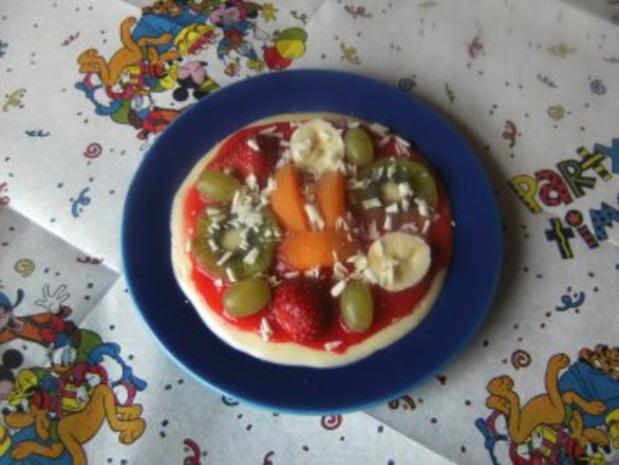 Rezepte für Kinder 3 : Süße Pizza - Rezept