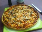 Pizza rustikal - Rezept