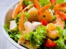 Shrimps-Brotsalat mit Limettendressing - Rezept
