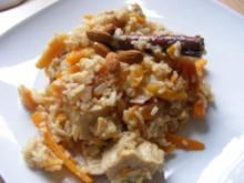 Mandelreis mit Huhn und Aprikosen - Rezept