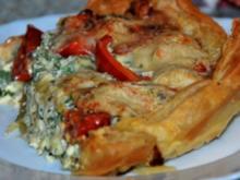 Tomaten-Rucola-Tarte mit Meeresfrüchten - Rezept