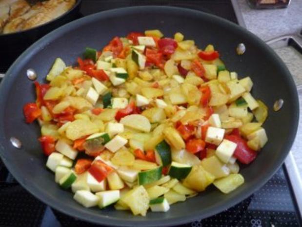 Resteverwertung : Gemüsebratkartoffeln, dazu Tilapia - Rezept - Bild Nr. 4
