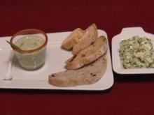 Geeiste Gurkensuppe mit selbstgemachter Kräuterbutter (Anne Menden) - Rezept