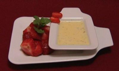 Erdbeeren auf Vanillespiegel (Anne Menden) - Rezept