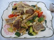 Pfannengerichte : Maultaschen-Pfanne - Rezept