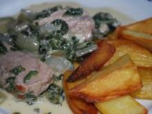 Schweinefilet in Mangold-Gorgonzola-Sauce - Rezept