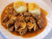 Kochen: Gulasch mit Pilzen - Rezept