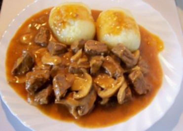 Kochen Gulasch Mit Pilzen Rezept Mit Bild Kochbarde