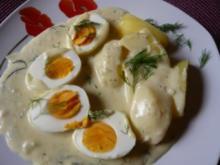Eier in Senf-Dill-Soße - Rezept