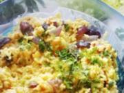 Reissalat mit karamellisiertem Kürbis - Rezept