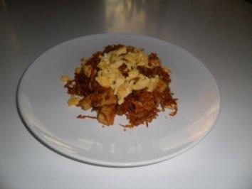 gebratener Reis mit Tofu und Ei - Rezept