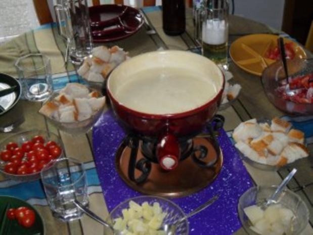 Schweizer Käsefondue - Rezept