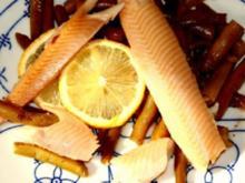 Forellen Buschbohnen Salat - Rezept