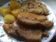 Jungschwein-Krustenbraten mit Salzkartoffeln und - Rezept