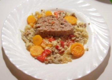 Kochen: Hackbraten im Gemüsebett - Rezept