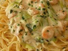 Garnelensauce mit Spaghetti - Rezept