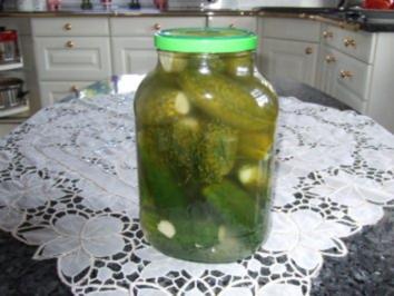 Salzgurken zum gleich essen - Rezept