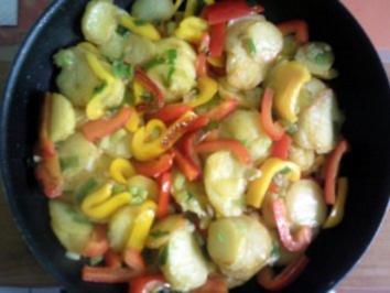 Bratkartoffel-Pfanne mit buntem Gemüse - Rezept
